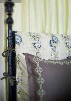 Master Bedroom headboard detail - Liz Williams Interiors