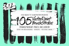 105 Illustrator Paint Stroke Brushes