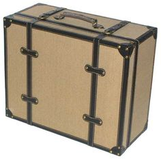 """Decorative DVD Case - Gunny Designed for the Home!                                  Holds  300 DVD Pro//HiDef Pro,  325 DVD2/VCD,  360 CD Pro, 430 Classic, Binder or Data sleeves                   Canvas coated wood, decorative leather edges                  Leather handle, metal corners and feet                  Dim: 20 1/2"""" x 16 1/2""""x 9""""(w x d x h), Wt: 17 lbs"""