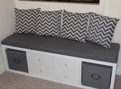 Image result for bench made from kallax