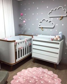 New baby nursery design ideas room decor Ideas Baby Bedroom, Baby Boy Rooms, Nursery Room, Girl Nursery, Girl Room, Girls Bedroom, Nursery Ideas, Room Baby, Babies Nursery