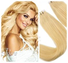 A gorgeous rich light caramel blonde which pairs perfectly with light, tanned, olive and also dark skin tones. This exotic summery blonde is extremely versatile and pairs beautifully with almost all blondes. Caramel Blonde, Icy Blonde, White Blonde, Golden Blonde, Platinum Blonde, Best Virgin Hair, Virgin Remy Hair, Blonde Hair Extensions, Tape In Hair Extensions