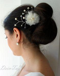 Haarschmuck & Kopfputz - Brauthaarschmuck - ein Designerstück von DeinTag bei DaWanda