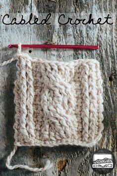 Cabled Crochet - Free pattern and graph