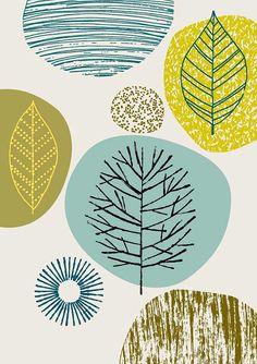 Naturaleza No5 láminas de edición limitada grabado por EloiseRenouf