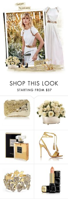 """Amazing..."" by akhesa10 ❤ liked on Polyvore featuring Chanel, Anndra Neen, Ethan Allen, Aquazzura, Oscar de la Renta and Guerlain"