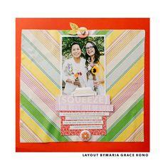 Kelly Purkey Summertime Kit | Layout by Maria Grace Kono