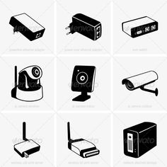 Network Equipment  #GraphicRiver         Set of Network equipment     Created: 7August13 GraphicsFilesIncluded: VectorEPS Layered: No MinimumAdobeCSVersion: CS Tags: KVM #Poe #adapter #camera #cctv #computer #connection #design #element #equipment #ethernet #graphic #icon #indoor #ip #lpt #nas #network #outdoor #powerline #print #security #server #switch #system #technology #tool #usb #vector #wireless