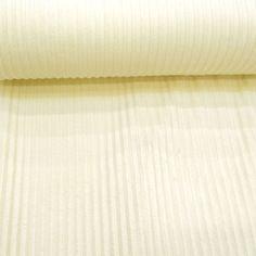 X*150- 15,80- Tissu minky à côtes ecru