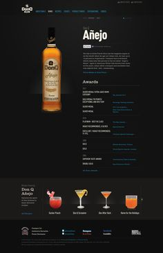 Don Q Rum Product Page Layout