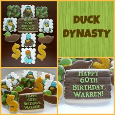 Duck Dynasty cookies by The Sugar Tree
