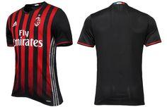 Camisas do AC Milan 2016-2017 Adidas