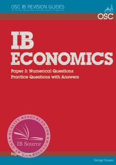 IB Economics Paper 3: Numerical Questions & Model Answers HL