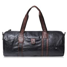 Concise PU Leather and Rivets Design Men's Messenger Bag