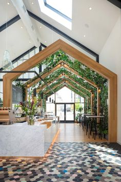 You Can Live Above This Gorgeous Treehouse Inspired Café in New Jersey You Can Live Above This Gorgeous Treehouse Inspired Café in New Jersey The post You Can Live Above This Gorgeous Treehouse Inspired Café in New Jersey appeared first on Design Ideas. Cafe Shop Design, Restaurant Interior Design, House Design, Coffee Shop Interior Design, Commercial Design, Commercial Interiors, Minecraft Greenhouse, Store Concept, Cafe Concept