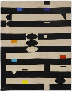 Yaacov Agam; Hand-Woven Wool Tapestry, 1971.