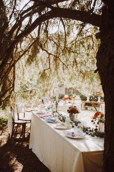 wedding outdoor whimsical boho table decor ideas