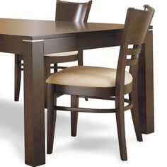 @Overstock - Dine in stylish comfort with these padded dining chairs. The set of two chairs is composed of sturdy hardwood with cherry veneers in a espresso finish. The padded seats are upholstered in neutral ivory linen that coordinates with existing decor.http://www.overstock.com/Home-Garden/Venice-Espresso-Padded-Dining-Chairs-Set-of-2/2117910/product.html?CID=214117 $139.19