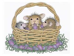 House Mouse. A Beautiful Basket