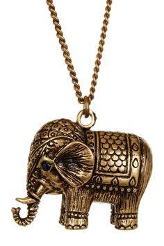 Thai Royal Elephant Pendant Necklace by Stella + Ruby on @HauteLook