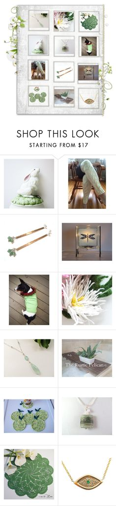 """""""Green Thumb"""" by therusticpelican ❤ liked on Polyvore featuring Gorham, CAVO, modern, contemporary, rustic and vintage"""