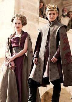 Cersei Lannister (Lena Heady) & Joffrey Baratheon (Jack Gleeson) 'Game of Thrones' Season 1, 2011. Costumes designed by Michele Clapton.