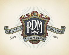 PDM Plumbing Heating & Cooling logo by Devey, via logopond