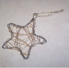 I made many of these several years ago. I used metallic color wires (gold, copper, and silver). If I can find my old supplies, I plan on making more soon.