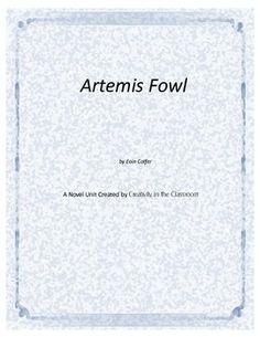 Artemis Fowl Novel U