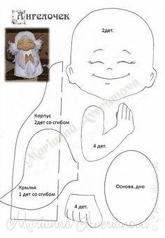 Здравствуйте всем!!!  Добавляю выкройку маленького ангелочка...вижу он вам приглянулся ))))) фото 6