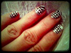 Tribal print nail tattoo. Nail arts are fun!