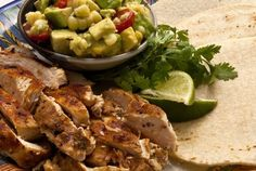 Some Lime-Rubbed Chicken Tacos with Corn Guacamole for #TacoTuesday...