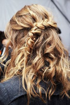 braided hairstyle around the back and side