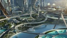 Tomorrowland cityscape 1 by DMT-07.deviantart.com on @DeviantArt