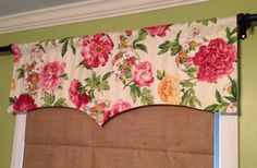 Whimsical Shaped Rod Pocket Lined Valance with Vibrant by Trimzz