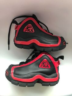 buy popular bc2cd 3b3de (eBay link) FILA toddler shoesblack and redus 7eur 23 12new without box