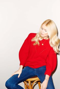 Claudia Schiffer Debuts an Awesome New Sweater Line via @WhoWhatWear