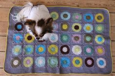 Franck live: Prikket babytæppe i mange farver. Hæklet tæppe, crochet blanket