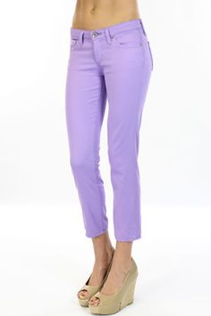 stilt crop jean in violet / ag jeans--I kind of love these :)