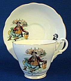 Mr Pickwick Cup And Saucer English Bone China Dickens (Royal Ascot ...