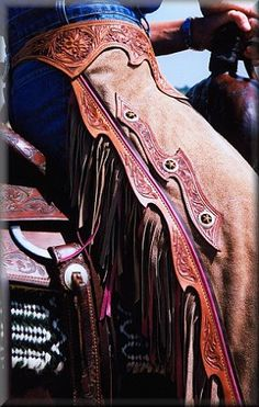 Have my grandfather's rodeo chaps. Cowboy Gear, Cowboy Horse, Cowboy And Cowgirl, Cowgirl Style, Western Style, Westerns, Horse Gear, Horse Tack, Western Riding