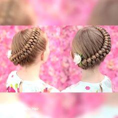 Dutch infinity braid braids are a girl s bestfriend! kids hair how to do a waterfall braid Baby Girl Hairstyles, Easy Hairstyles, Hairstyles Videos, Braided Hairstyles For Kids, Easy Little Girl Hairstyles, Fishtail Hairstyles, Toddler Hairstyles, Girl Hair Dos, Kid Hair