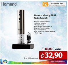 Homend 2201 Wine Up Şarap Açacağı 69.00 TL yerine sadece 32.90 TL
