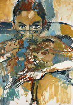 Je vous regarde, Joann Sfar, 2014, huile  sur medium, peinture pour Je l'appelle  monsieur Bonnard, parution aux éditions  Hazan en 2015.