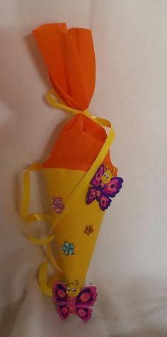Schultüten - ♥Schultüte♥Schmetterling♥Geschenk♥Mädchen♥ - ein Designerstück von StoffBastelBude bei DaWanda