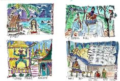 Thailand - Miniature watercolours 1993 #PieterCronjeArt Watercolours, Thailand, Faces, Miniatures, Painting, Painting Art, The Face, Paintings, Painted Canvas