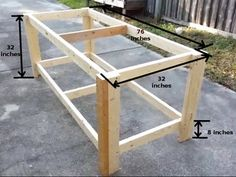 How to Build a Sturdy Workbench Inexpensively : 5 Steps (with Pictures) - Instructables Workbench Stool, Workbench Plans Diy, Workbench Organization, Industrial Workbench, Building A Workbench, Workbench Designs, Garage Workbench, Garage Bench, Folding Workbench
