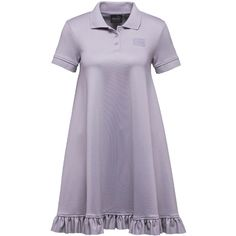 Fenty Puma By Rihanna Polo Short-Sleeve Swing Mini Dress (2.795.520 IDR) ❤ liked on Polyvore featuring dresses, light purple, mini dress, lavender purple dress, short lavender dress, short purple dresses and short sleeve dress
