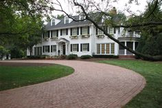 Historical Bricks - This house reminds me of our house- love it so hard. Oh yeah, and I would like a brick courtyard/circular drive.