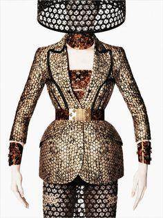 Alexander McQueen enlists fashion photographer David Sims to capture their Spring Summer 2013 advertisement starring supermodel Raquel Zimmermann.